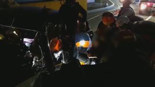 부산서 승용차가 굴다리 벽 들이받아 1명 사망
