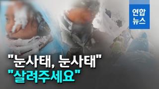 [영상] 순식간에 눈에 파묻혀…유튜버 부부 '네팔 눈사태' 영상 공개