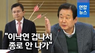 """[영상] 김무성, 黃 겨냥 """"이낙연 출마에 겁나 종로 나간다는 사람없어"""""""