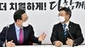 """여야 원내대표 첫 면담…윤호중 """"피해자께 사과"""""""
