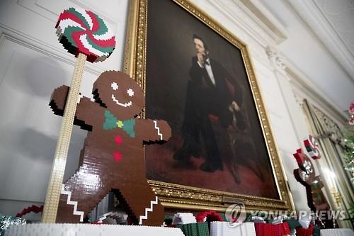레고로 만든 백악관 성탄 장식
