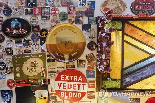 유네스코 세계문화유산으로 등재된 벨기에 맥주 제품들 [AP=연합뉴스]
