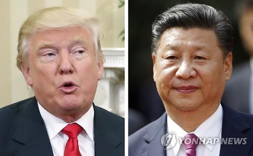 도널드 트럼프 미국 대통령 당선인(좌)과 시진핑(習近平) 국가 주석(우)
