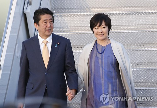 아베 일본 총리 부부