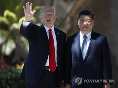 지난 4월 정상회담 당시의 트럼프 대통령과 시진핑 국가주석 [AP=연합뉴스]