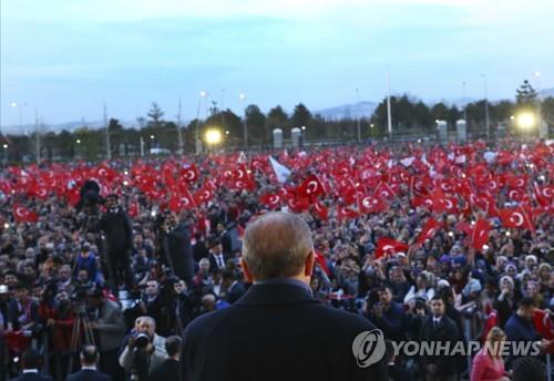 """에르도안 대통령 """"사형제·EU가입 국민투표 부칠 수도"""""""