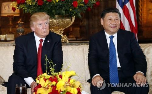 정상회담한 트럼프(왼쪽)와 시진핑