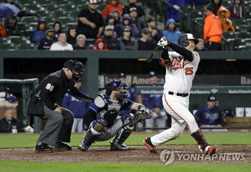 '김현수 홈런' 볼티모어, 탬파베이에 6-3 승리 (AP=연합뉴스)