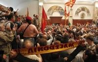 마케도니아 시위대 국회 점거…야당 대표 포함 최소 10명 부상