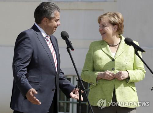 앙겔라 메르켈 독일 총리와 시그마 가브리엘 독일 외무장관