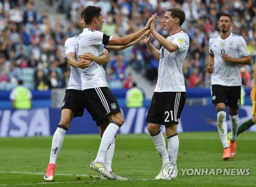 전차군단 독일, 컨페드컵서 호주에 3-2 신승…고레츠카 결승골
