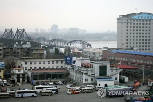 '북·중 교역의 상징' 압록강 철교 전경