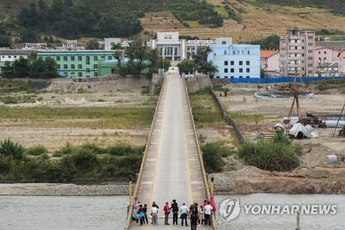 중국과 북한을 잇는 두만강교 [AP=연합뉴스]