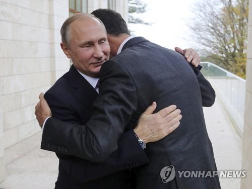 """아사드 시리아 대통령 """"나라 구해준 푸틴 러시아 대통령에 감사"""""""