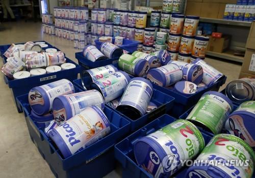 프랑스 락틸리스社, 살모넬라균 오염 의심 분유 회수