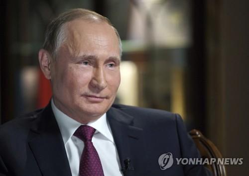 미 NBC와 인터뷰하는 블라드미르 푸틴 러시아 대통령