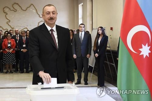 일함 알리예프 아제르바이잔 대통령 대선 승리…4연임 성공