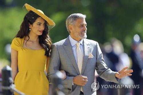 해리 왕자 결혼식을 찾은 조지 클루니 부부 [AP=연합뉴스]
