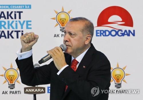 경제로 뜬 터키 에르도안, 선거 한달 앞두고 경제로 '흔들'