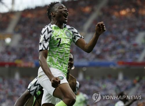 -월드컵- '무사 2골' 나이지리아, 아이슬란드 꺾고 '16강 불씨'