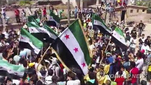 2012년 '혁명 요람' 다라에서 열린 반정부 시위