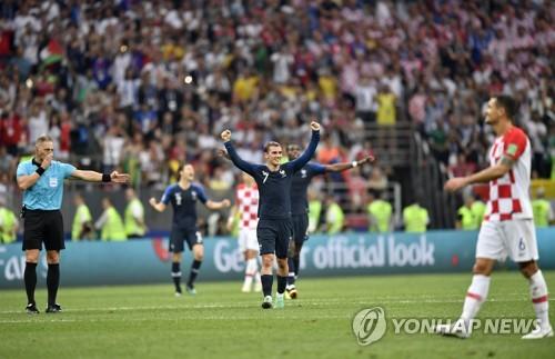 -월드컵- 프랑스, 크로아티아 꺾고 20년 만에 정상 탈환(종합)