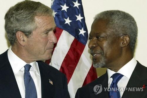 """美국무부도 코피 아난 애도…""""평화·인간 존엄에 오래 헌신"""""""