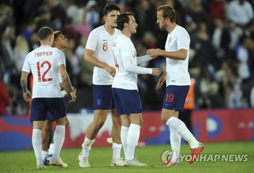 스위스전 승리한 잉글랜드 축구 대표팀