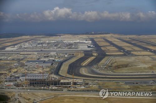 이스탄불 새 공항의 항공사진