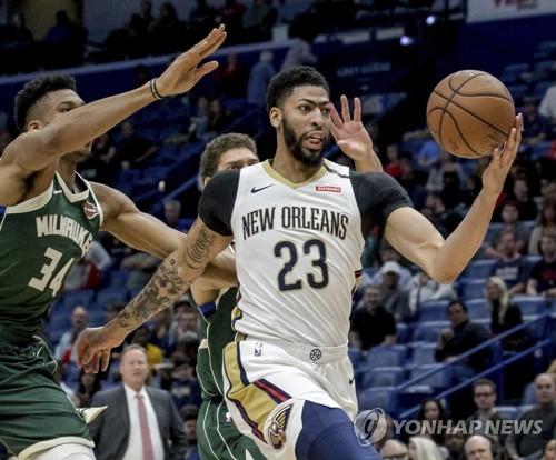 NBA 데이비스, LA 레이커스로 이적할 듯…6대1 대형 트레이드
