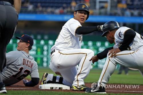 강정호, 1천438일 만에 3루타…2경기 연속 타점