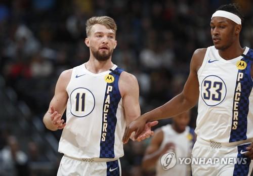 NBA 인디애나, 덴버 제압하고 5연승…사보니스 첫 '트리플 더블'