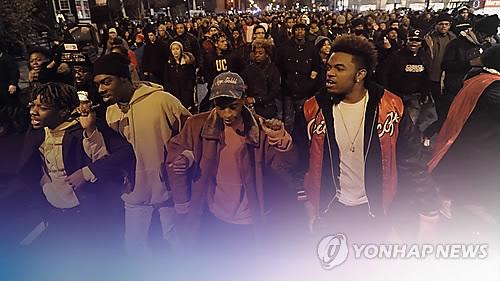 미국의 인종차별 항의 시위