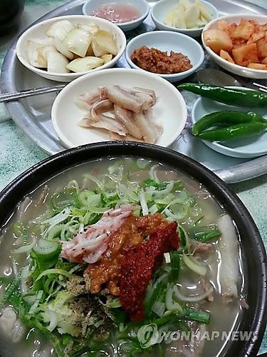 뜨끈한 돼지국밥 [연합뉴스 자료사진]