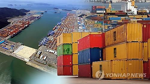 昨年の輸出額が過去最高を記録した=(聯合ニュースTV)