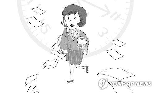 어린 자녀가 있는 취업 여성
