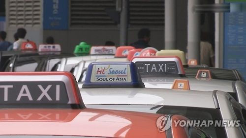 ソウル市内のタクシー乗り場(資料写真)=(聯合ニュース)