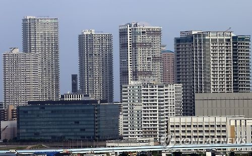 도쿄의 고층 아파트