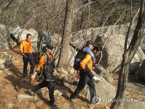 119 산악사고 구조 모습