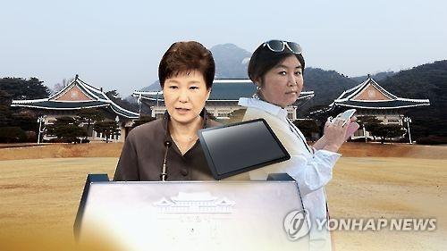 '비선 실세' 최순실 태블릿PC(CG) [연합뉴스TV 제공]