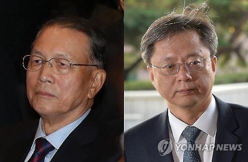 김기춘 전 대통령 비서실장과 우병우 전 청와대 민정수석비서관