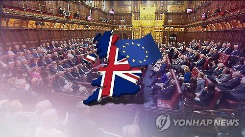 英 하원, EU 탈퇴법 수정안 표결(CG)