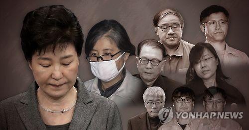 박근혜 전 대통령과 최순실 게이트 연루자 (PG)