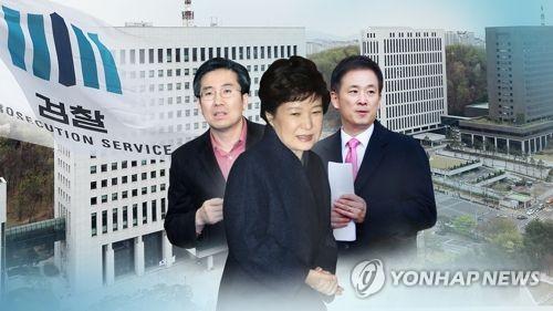 박근혜 대통령과 손범규(왼쪽)·유영하(오른쪽) 변호사(CG)
