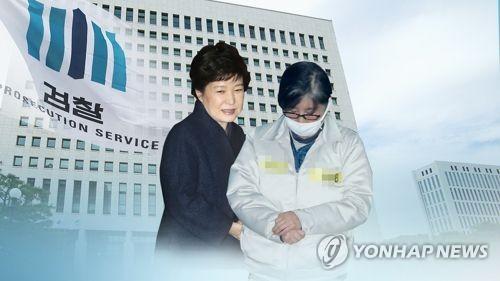 박근혜 전 대통령과 최순실(CG)