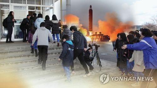 치밀한 일본 北미사일 대비 주민대피 훈련 첫 실시(CG)