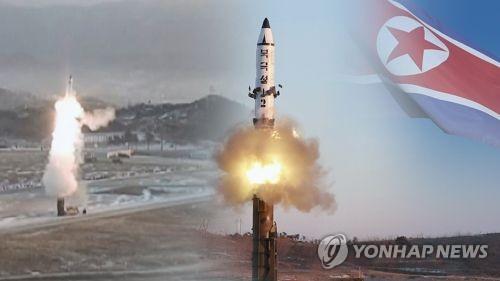北朝鮮は16日、東部の咸鏡南道・新浦付近から弾道ミサイル1発を発射したが失敗した=(聯合ニュースTV)