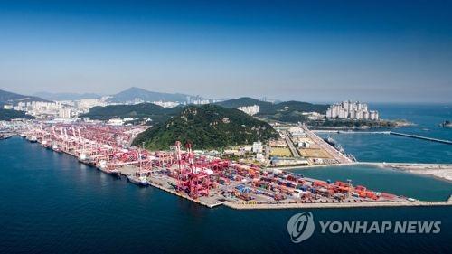 부산항터미널 전경 [연합뉴스 자료사진]