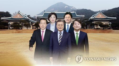 대선주자들 5명(CG)