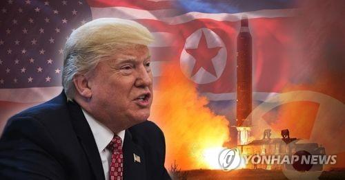 """트럼프 """"북한, 화염과 분노에 휩싸일 것""""(PG)"""